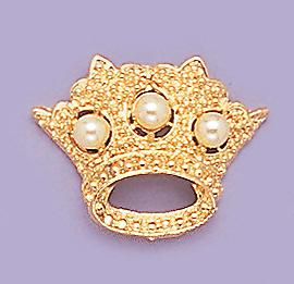 PA317P: Pearl Crown Pin