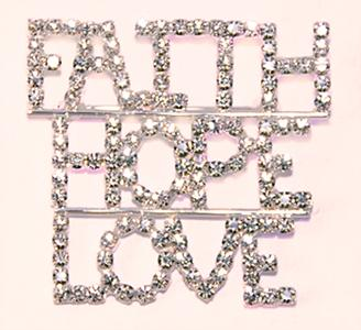 PA347: Faith-Hope-Love Crystal Pin