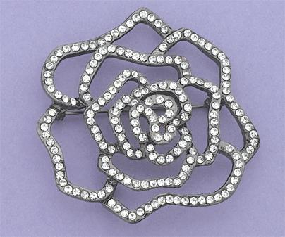 PA461: Crystal Rose Pin