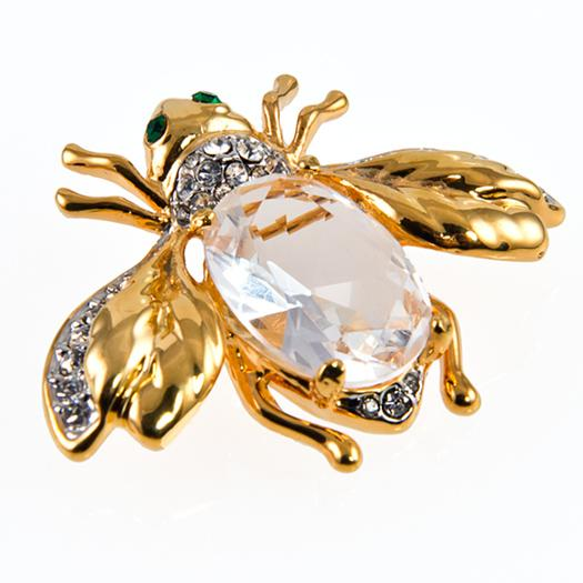 PA606: Large Crystal Bee PIN