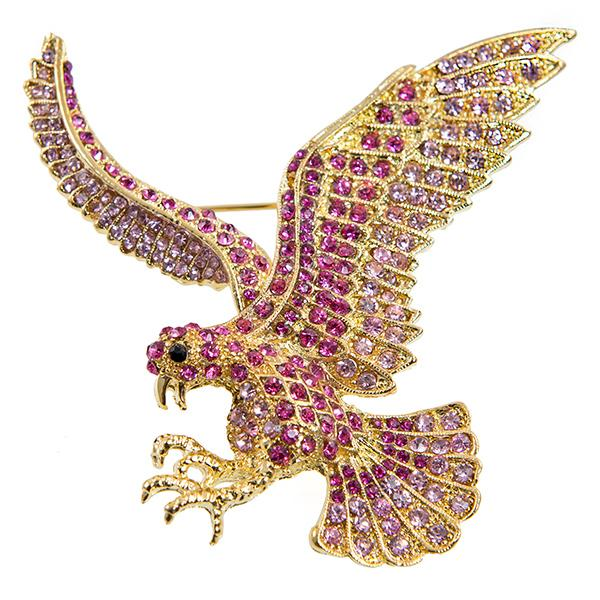 PA629: Elegant Pink Eagle Pin