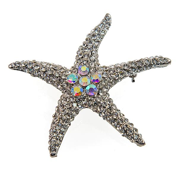 PA643: Austrian Crystal Starfish Pin or Necklace