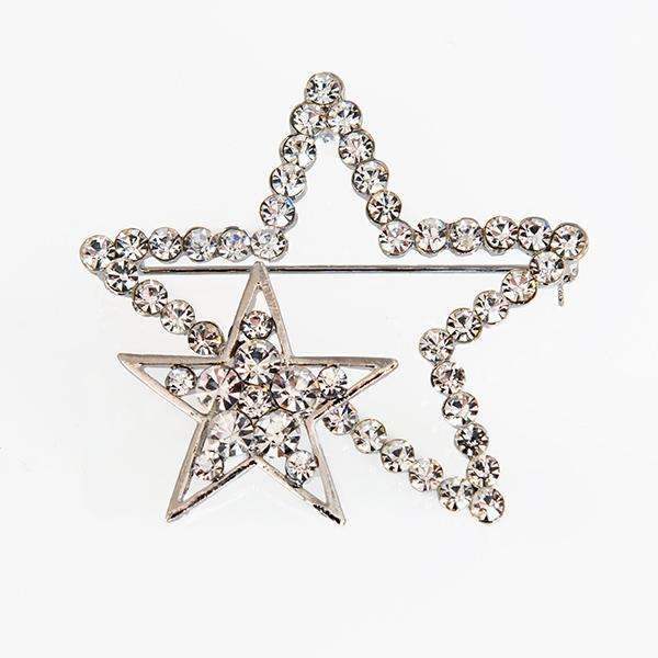 PA644: DoubleCrystal Star Pin