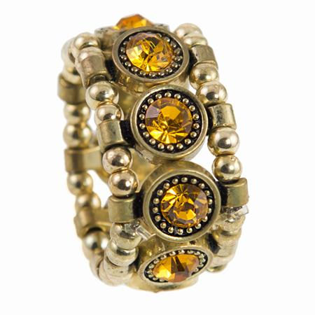 RA139: Golden Yurmanesque Topaz Ring