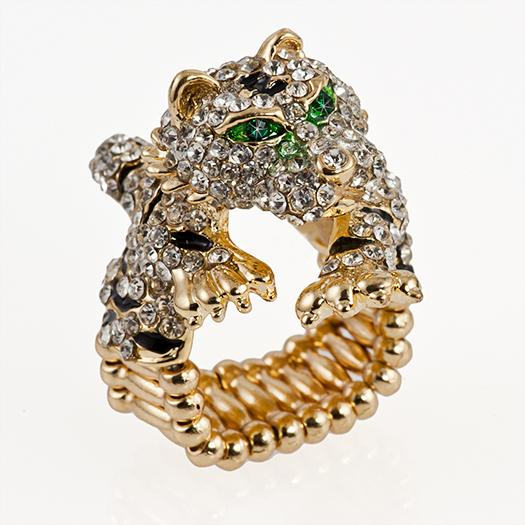 RA142: Leopard / Cheetah Stretch Ring