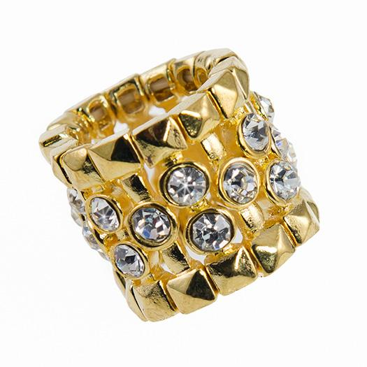 RA150: Golden Austrian Crystal  Ring