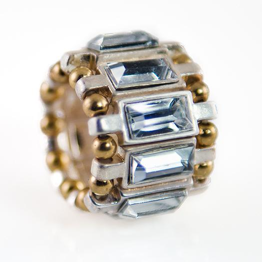 RA152: Emerald Cut Stretch Ring