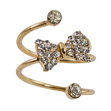 RA163: Crystal Bow Ring