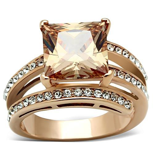 RA192: Champagne Rose Gold Ring