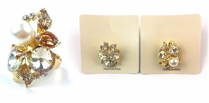 RA300: Assorted Pearl and Crystal Rings