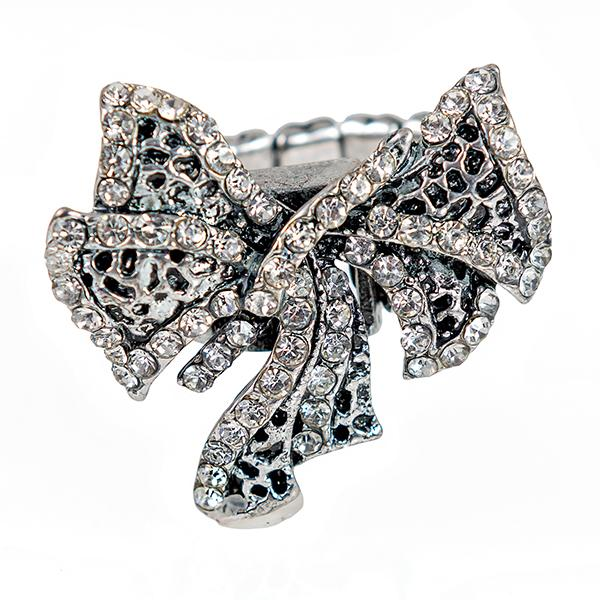 RA313: Crystal Bow Ring