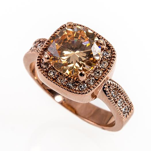 RA81T: Topaz and Rose Gold Ring