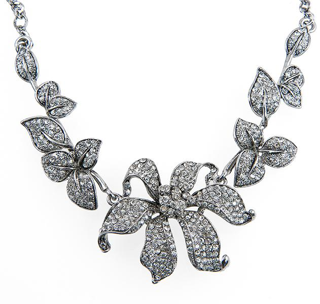 SN245: Elegant Floral Necklace and Earring Set