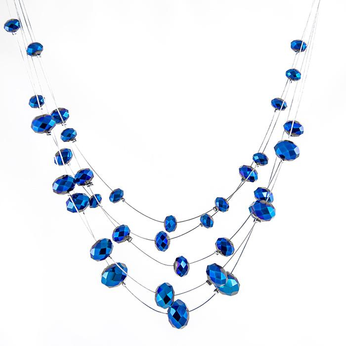 SN290: Sapphire AB Necklace and Earring Set