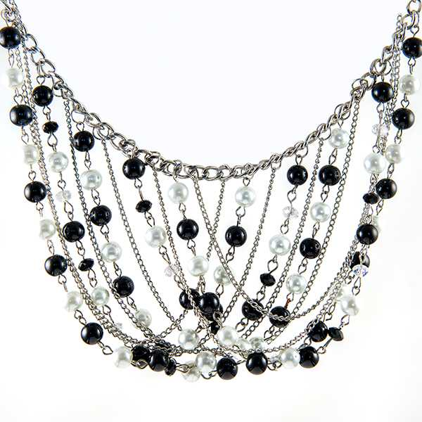 SN351: Multi Strand Chandelier Necklace and Earrings