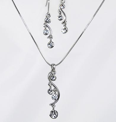 SNT127: Journey Style Necklace & Earrings Set