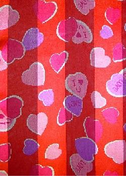 SS42: I Love You Heart Scarf in Red