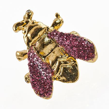 TA217P: Gold Bee Tacs with Pink Wings, half dozen count