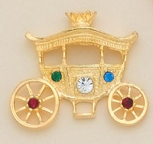 TA341: Jeweled Gold Coach Tac