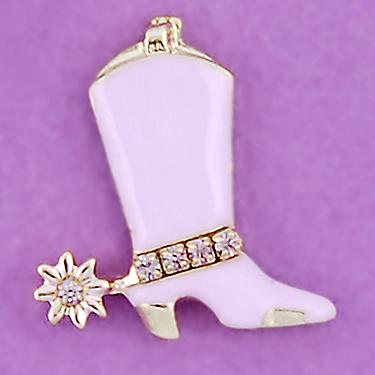 TA397: Cowboy Boot w/ Crystals (Pink, Silver or Navy)