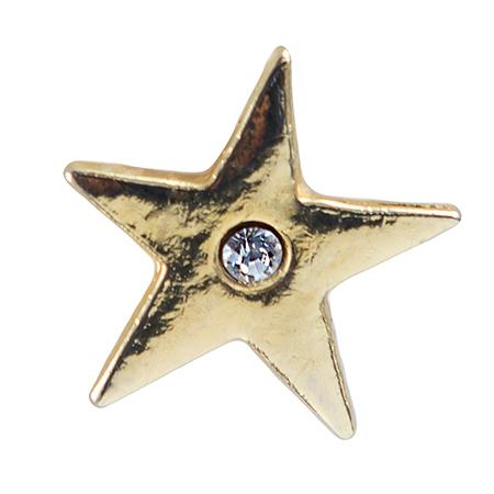 TA591: Gold Star with Clear Crystal