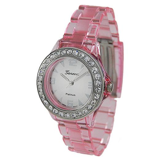 WA102: Pink Crystal Rolex Style Watch