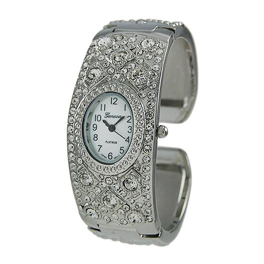 WA147: Stylish Silver Cuff Watch