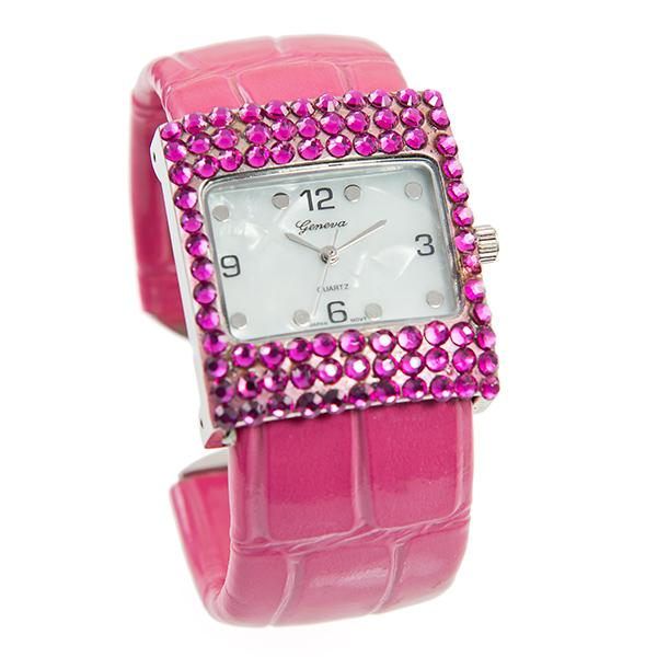 WA153P: Pink Watch with Austrian Crystal
