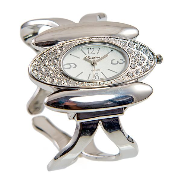 WA154: Contemporary Silver Bangle Watch