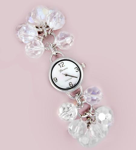 WA77: Silver Beaded Watch